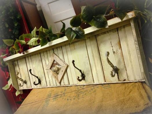 Christmas 2014 Coat Rack hooks reclaimed wood American Paint Company Retailer Shizzle Design Chalk paint supplies painted furniture MI classes