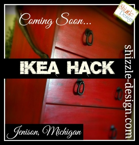 Ikea Hack fabric Junk Gypsies Kitchen Island red chalk paint ideas shizzle design chevron burlap barn wood hardware - Copy