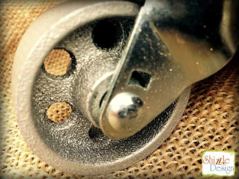 metal casters kitchen cart IKEA hack shizzle design