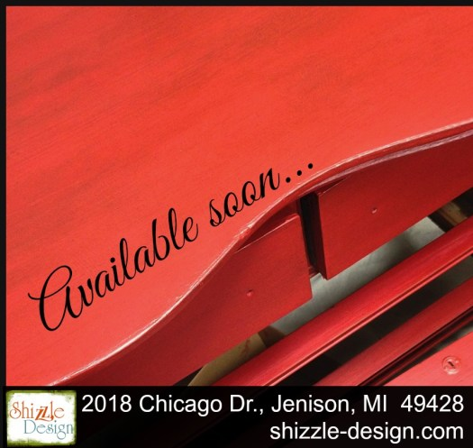Firework's Red - Curved Oak Dresser shizzle design chalk paint