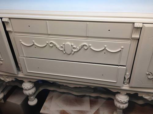 Tarnished Platter American Paint Company Shizzle Design gray blue buffet sideboard chalk painted furniture ideas Michigan supplies 3