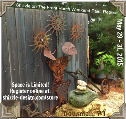 1 Shizzle on The Front Porch Weekend Furniture Paint Retreat Wisconsin Classes Miss Mustardseed Best workshops chalk paint Dream Farm