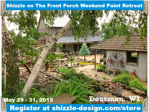 Shizzle on The Front Porch Weekend Furniture Paint Retreat Wisconsin Classes Miss Mustardseed Best workshops chalk paint Dream Farm