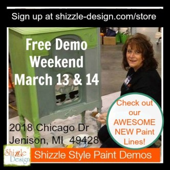 live demos Shizzle Design West Michigan Expo Featured Speaker Painted Furniture chalk clay paint retailer supplies FREE chalk paint demos