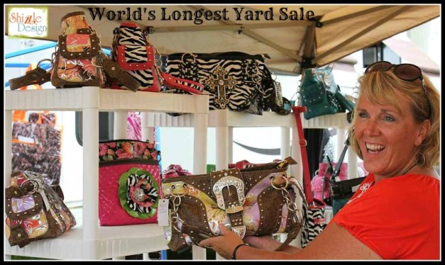 #worldslongestyardsale 2013 Shizzle Design #paintedfurniture #americanpaintcompany #CeCecaldwell #paint Kentucky Hwy 127 sale purses bags