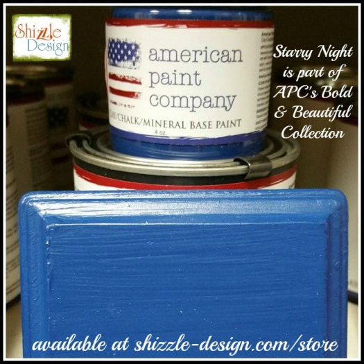 Bold Beautiful Collection by American Paint Company Chalk Clay Paint Shizzle Design retailer Grand Rapids Michigan - Starry Night, cobalt blue, vibrant
