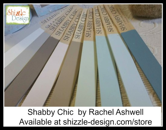 Shabby Chic Chalk Clay Paint by Rachel Ashwell pastel colors painted sticks painted furniture shizzle design grand rapids michi