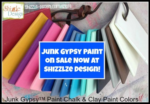 Junk Gypsy Chalk Clay Paint on sale Colors white blue red pink buy online Shizzle Design Grand Rapids Michigan