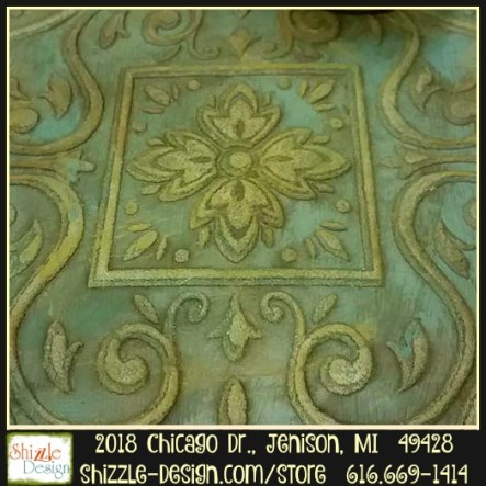 Frenchic Furniture Paint - Anguilla - medium teal chalk paint, pea soup olive green rustic dark wax paint recipes easy to use Shizzle Design Distributor for the U.S. Jenison Michigan 2