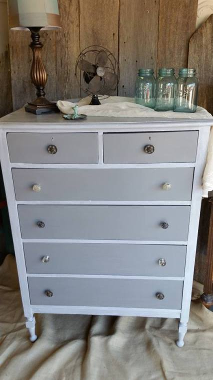 Frenchic Furniture Paint - 1 Grey Pebble - warm medium gray - chalk paint - shizzle design - michigan - USA - where to buy - painted furniture - highboy - dresser
