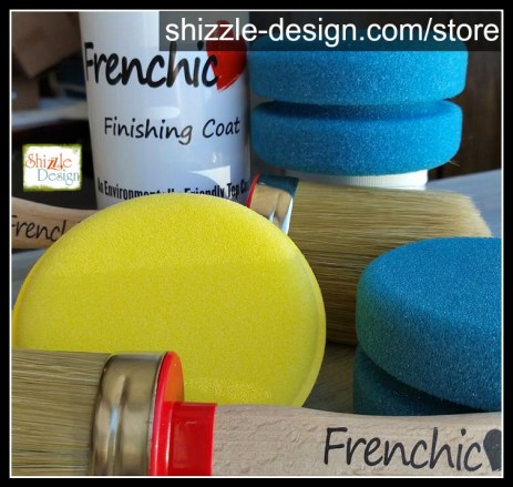 Frenchic Finishing Coat - Clear Coat - sponges - applicators - shizzle design - chalk clay paints 2