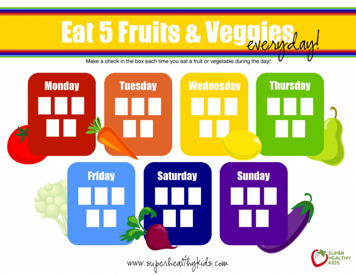 5 Tips For 5 A Day Free Fruit And Veggie Printable