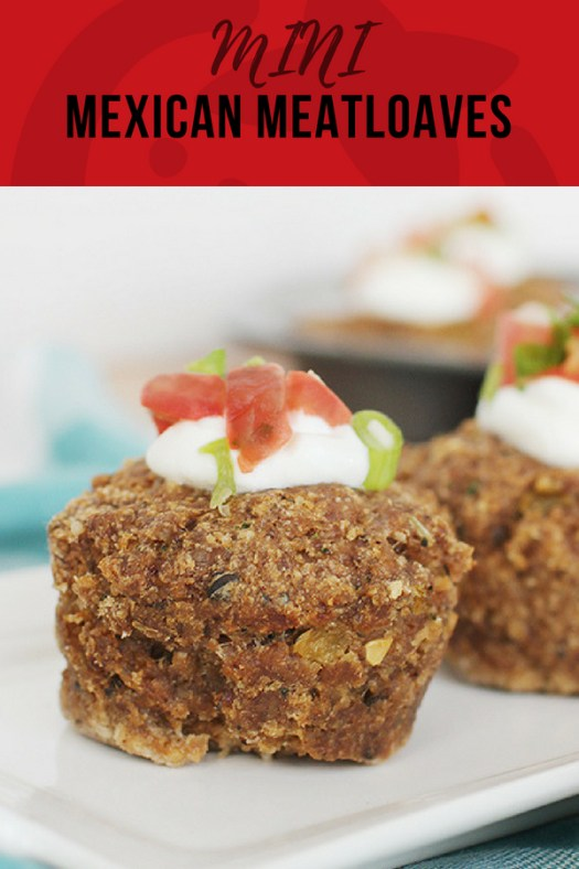 Mini Mexican Meatloaf make in a muffin tin with delicious flavors