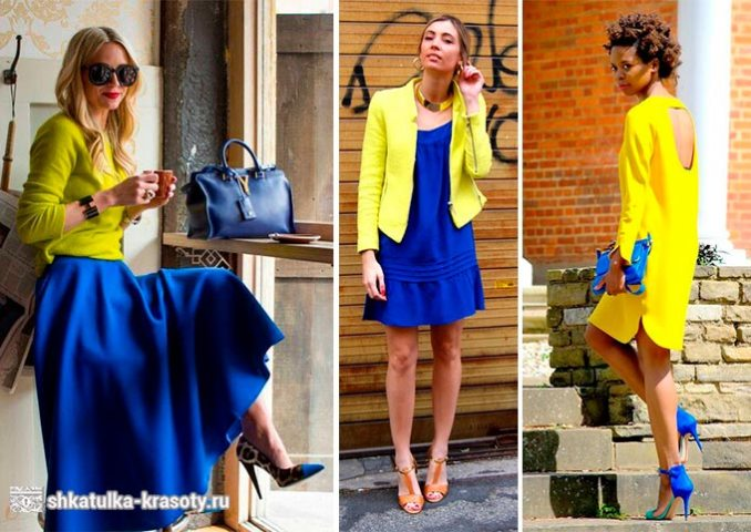 yellow combination in clothes