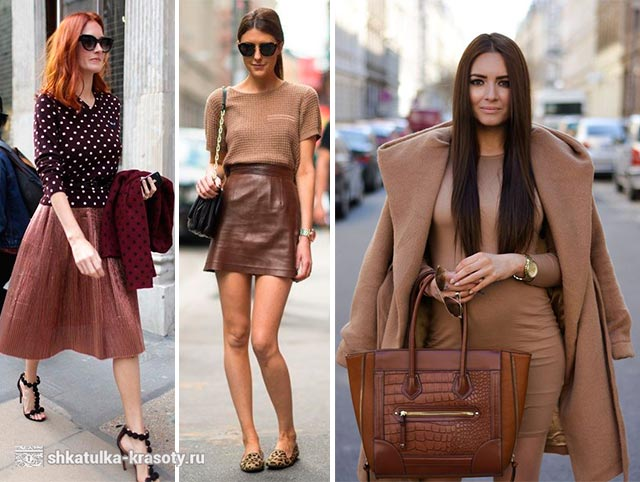 Brown in vestiti