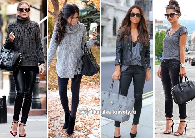 Kombinasi abu-abu dalam pakaian