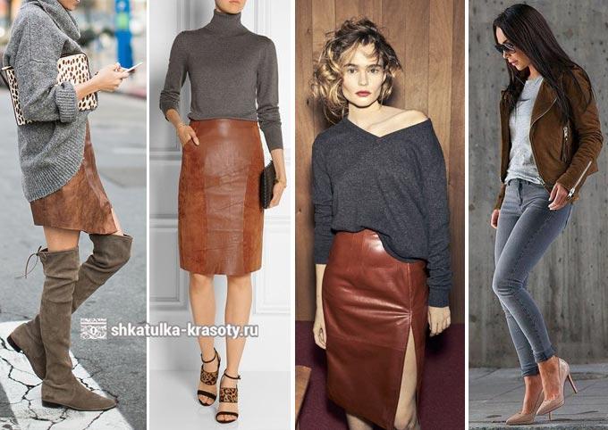 Bruin en grijs in kleding