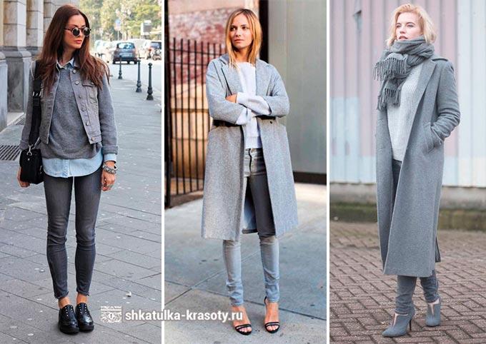 Apa yang harus dipakai wanita jeans abu-abu