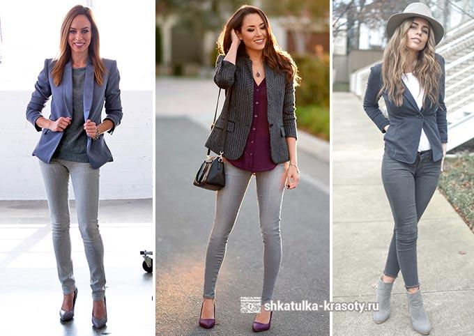 Jeans gris avec quoi porter une photo