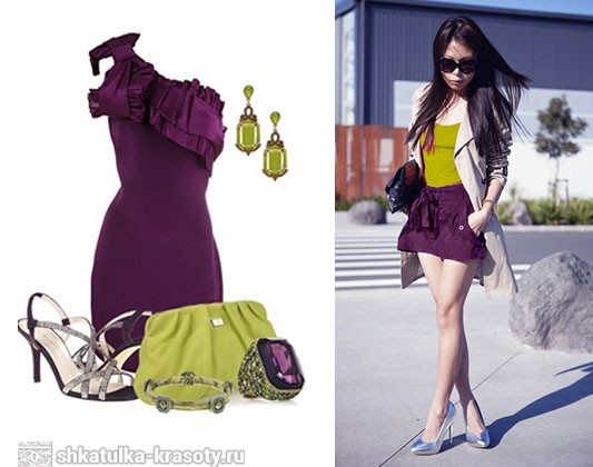Plum color in clothes mustard