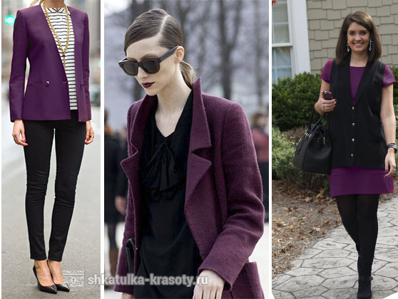 Plum color in clothes black
