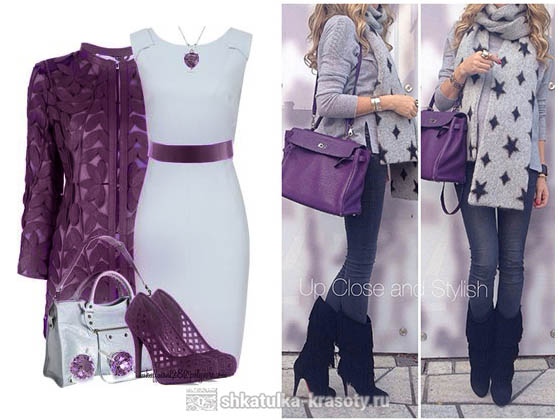 Plum color in clothes gray