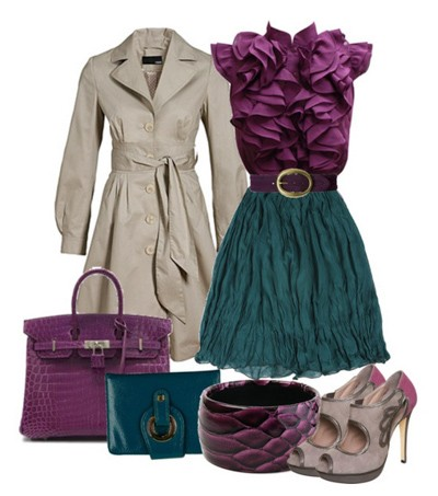 Plum color in clothing sea green