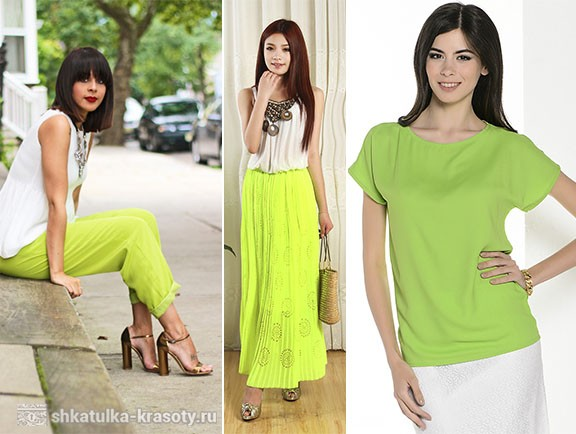 combination of colors in clothes lime
