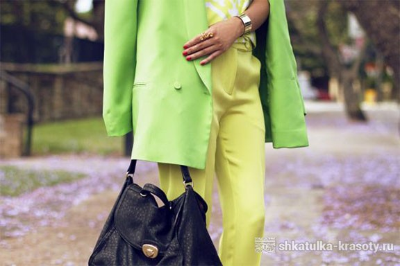 a combination of yellow and light green