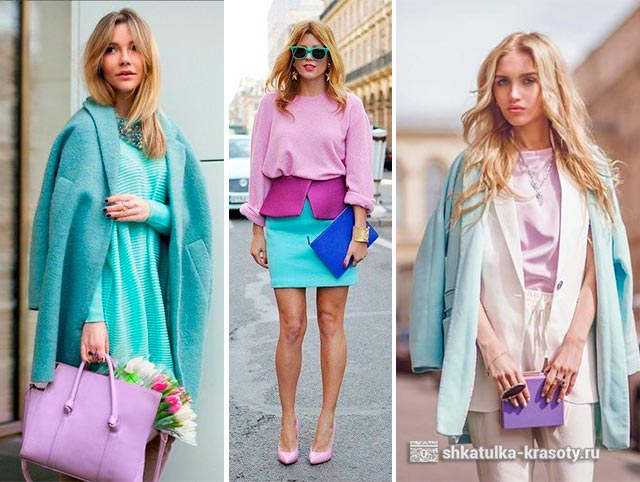 color combination with lilac in clothes