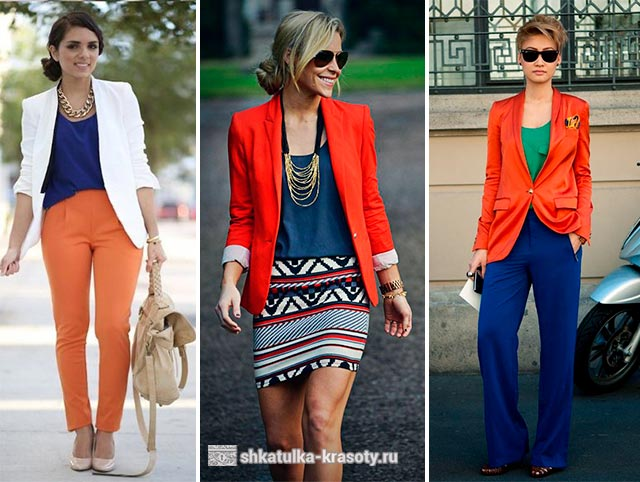 combination of orange in clothes