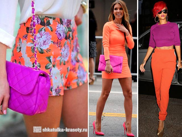 orange color in clothes