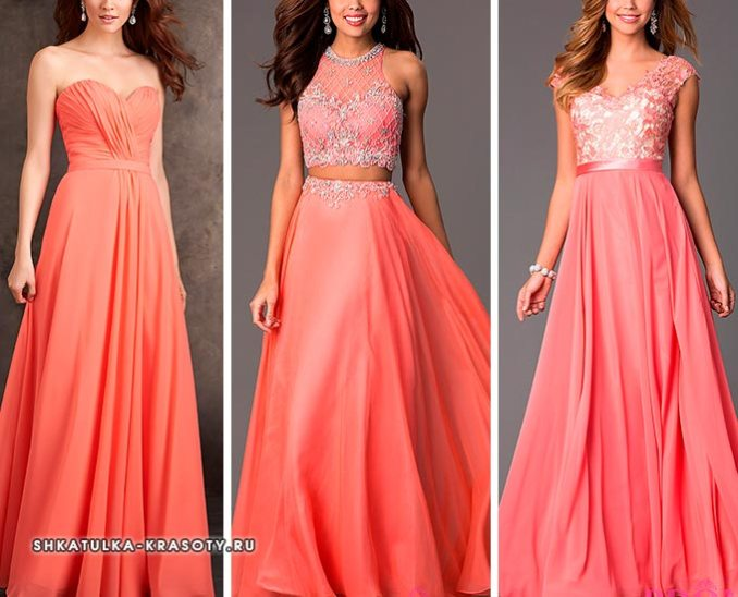 what to wear a coral dress