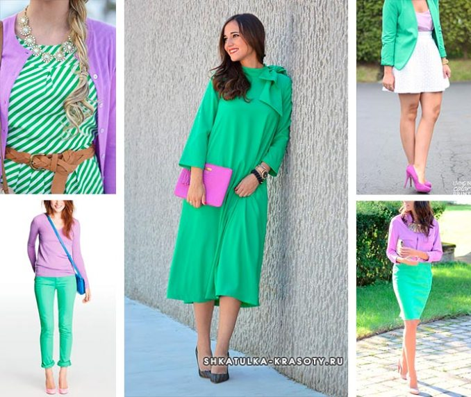 color combination in lilac clothes