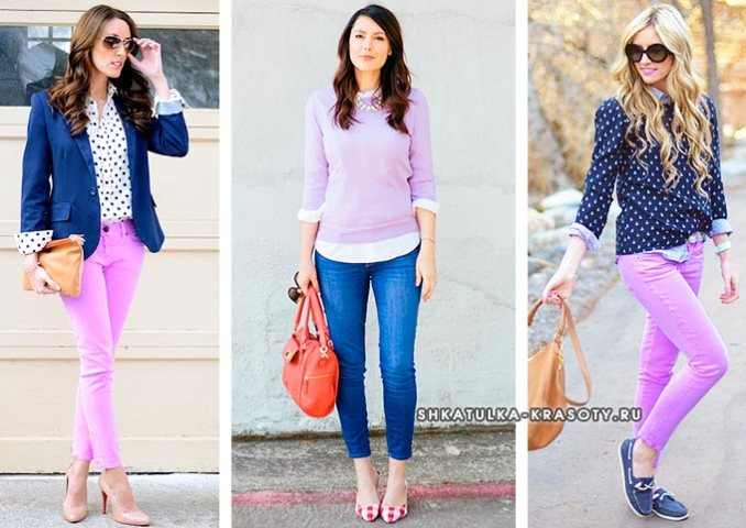 color combination lilac in clothes