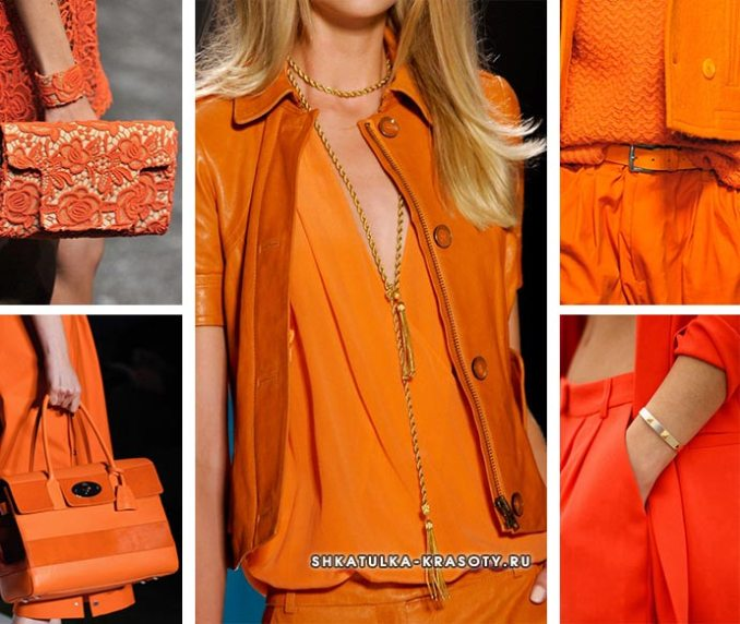 orange color in clothes and its shades