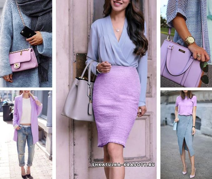 sets with lilac clothes