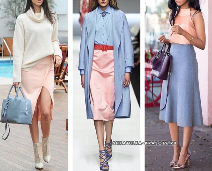 the combination of gray-blue with peach
