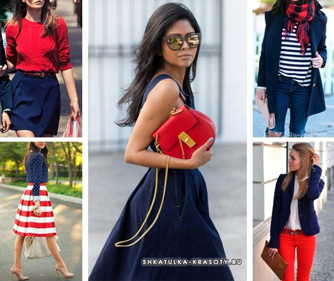 red and navy combination