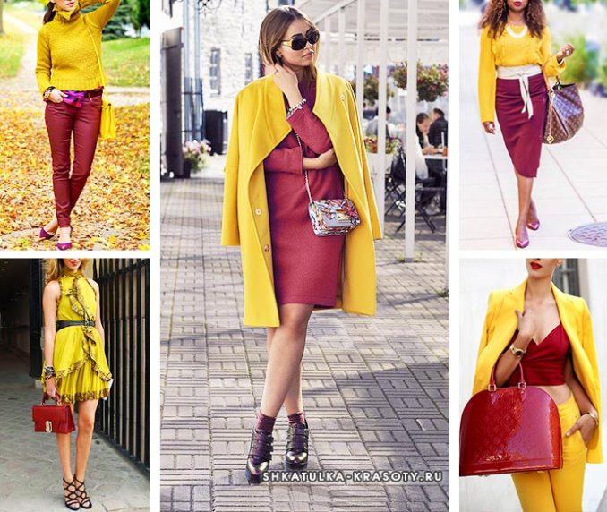 with burgundy