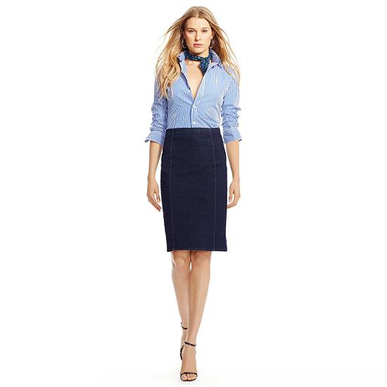 Джинсовая юбка карандаш - с чем носить, фото | Шкатулка ...