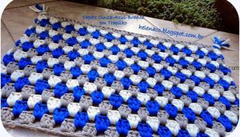 яркий коврик крючком коврик цветок с мастер классом для дома