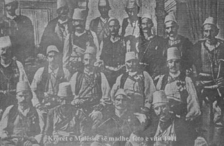 Krerët e Malësisë më 1911