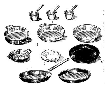 Посуда для приготовления горячих закусок и вторых блюд