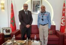 Photo of سفير المملكة المغربية بتونس يستقبل قائد عام كشافة تونس