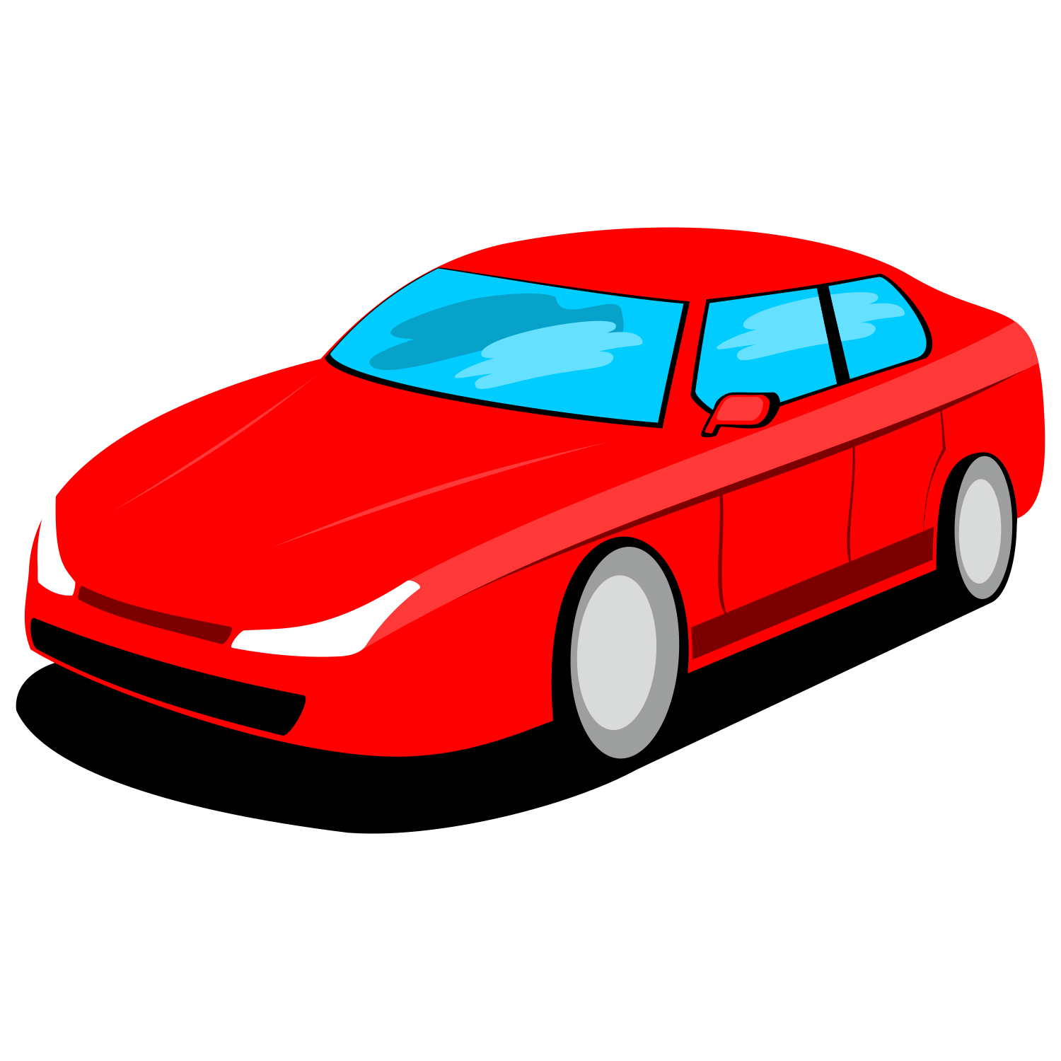Vector For Free Use Red Car Vector