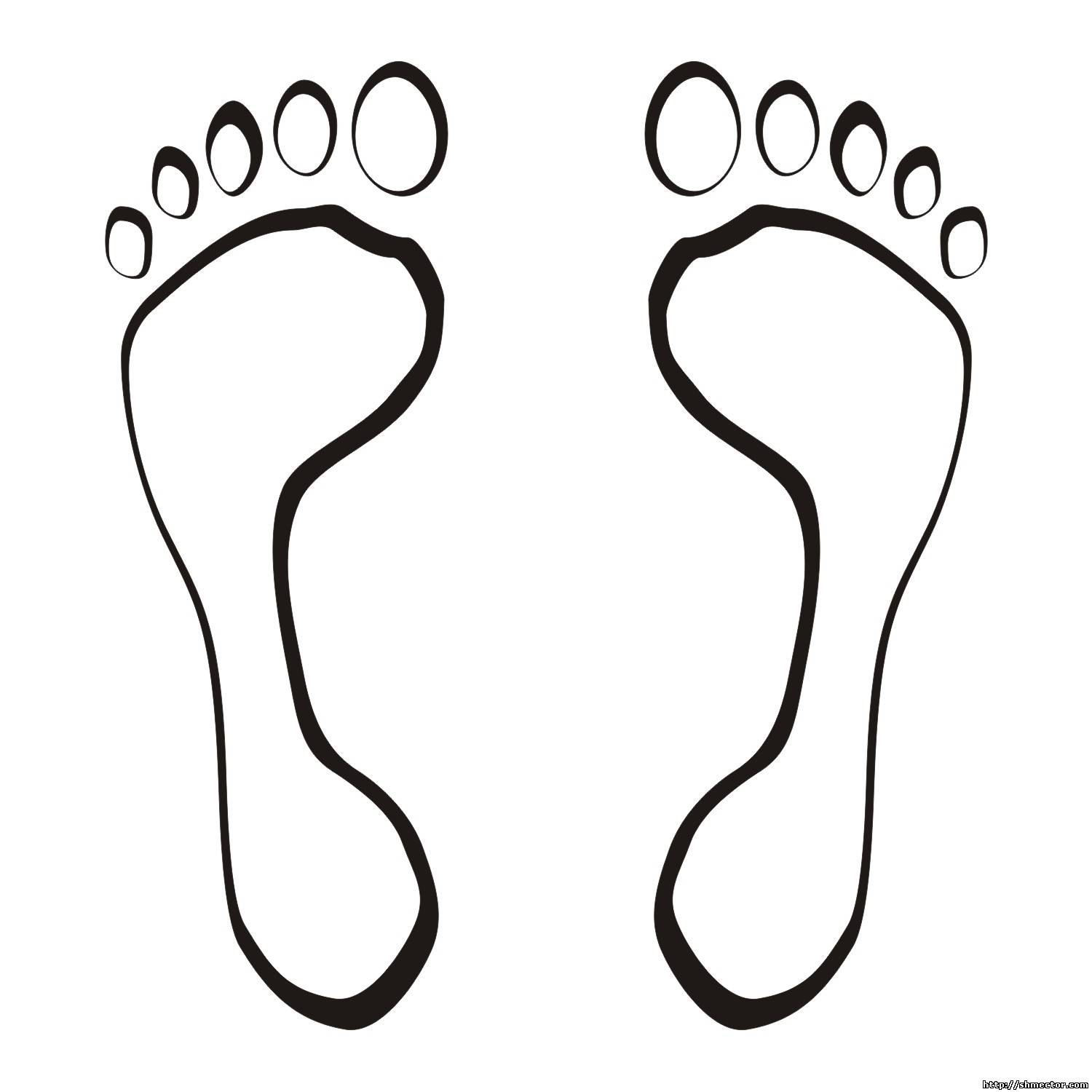 Vector For Free Use Foot Steps