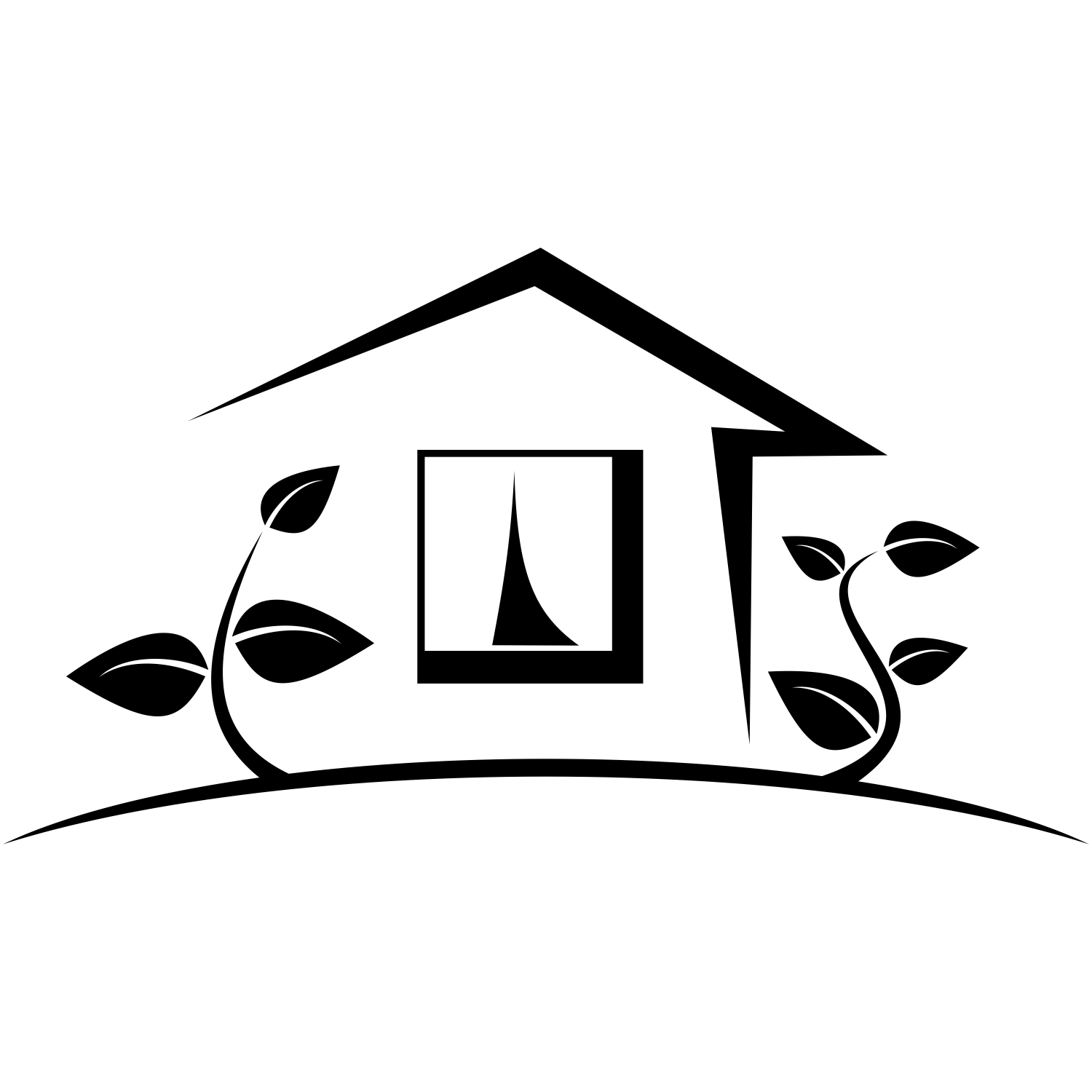 Vector For Free Use House With Two Trees