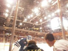 the night scrivens came and slashed the glass because chris and eric wouldn't stop heckling haha