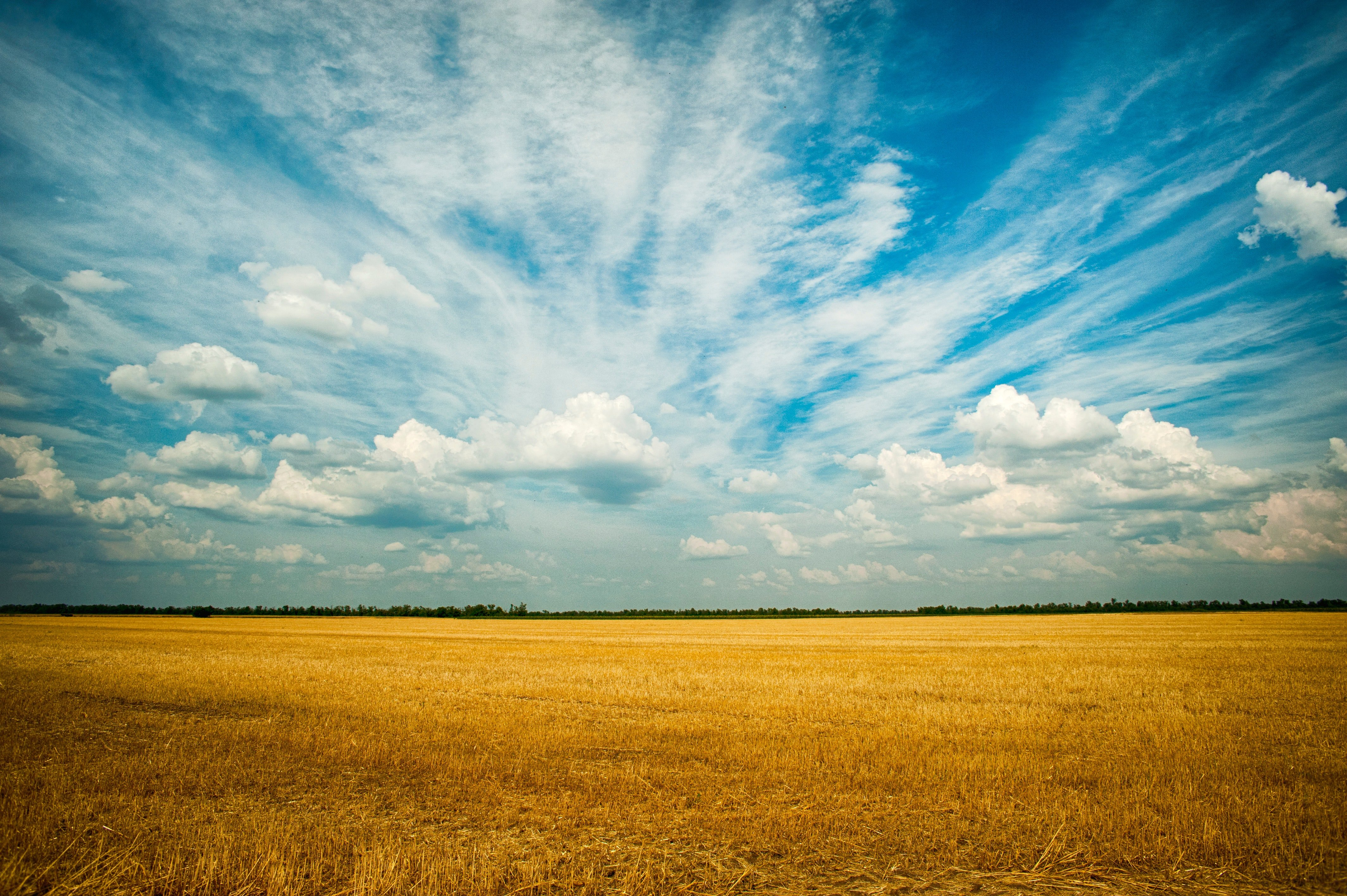 Agriculture Blue Sky Clouds